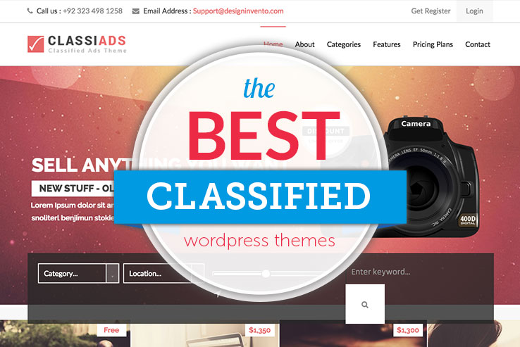 The Best WordPress Classified Themes 2018