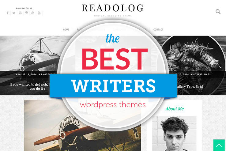 75+ WordPress Themes for Writers and Authors 2018