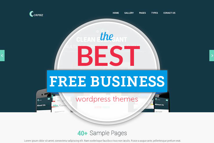 60 free business wordpress themes 2018 free business wordpress themes flashek Images