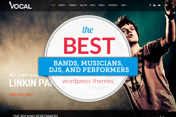 Best Wordpress Themes for Musicians, Bands and Performers