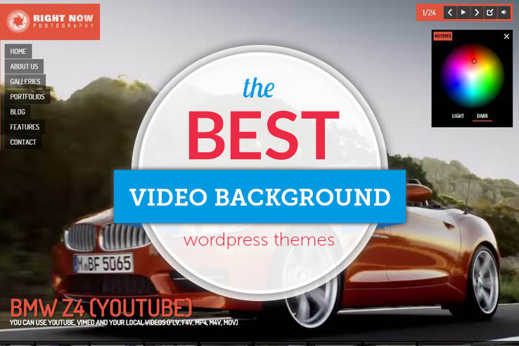 Best video background themes