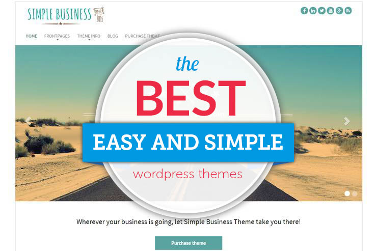 best and simple wordpress themes