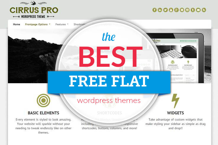 60+ Free Flat Design WordPress Themes