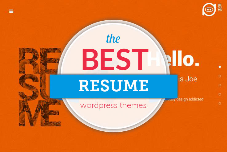 ... Best WordPress Resume Themes 2017 for Your Website Resume or Online CV