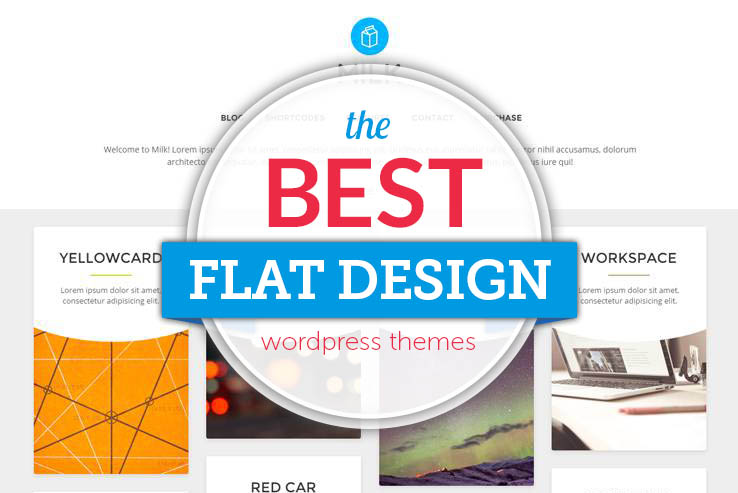 best flat design themes